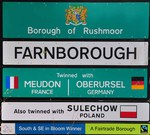 Farnborough Ortsschild